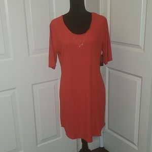 NWT Red dress with necklace
